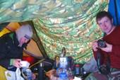 Отличный проект соединения палаток (изнутри)