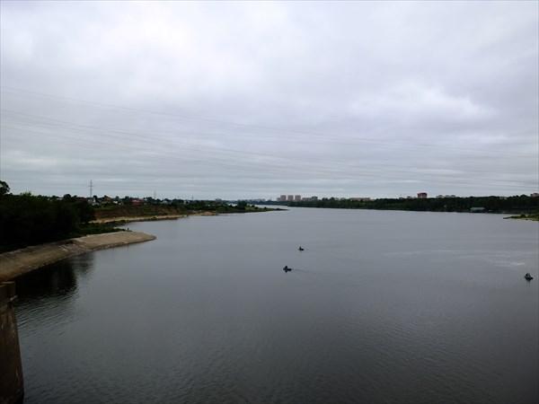 Волга после плотины