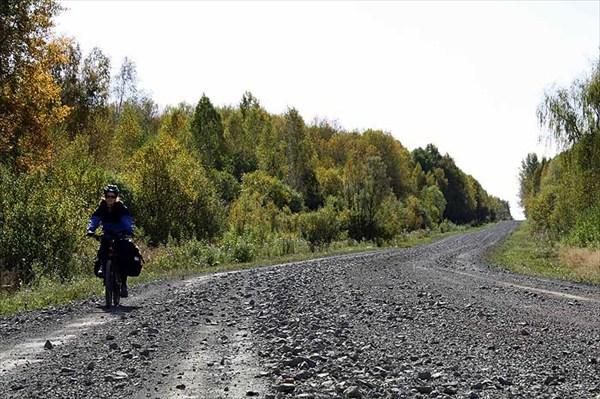 Фото 16. Дробленая дорога