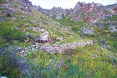 Участок старой кладки перевала