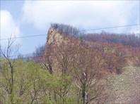 скала, вид по пути от порога