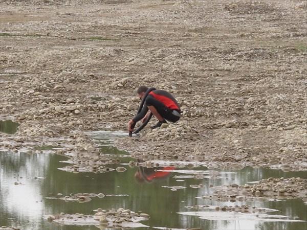 Проверка заклеенной камеры на реке Ходзь