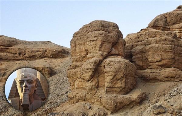 В обычной горе померещилась голова фараона...