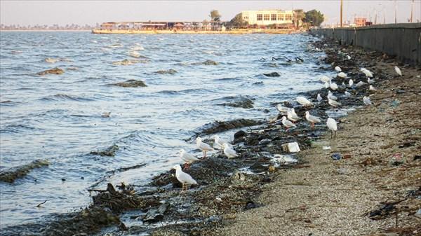 Солёное озеро Карун