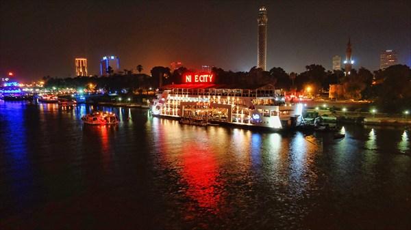 Причал на реке Нил в Каире