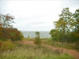 Вид на Ильмень в районе деревни Коростынь из автобуса.