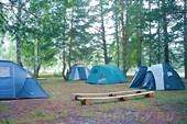 Палаточный лагерь на турбазе