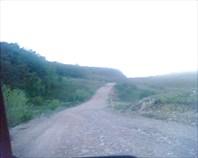 горная дорога с вершины