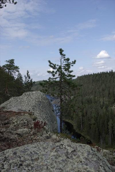 камень, дерево, вода