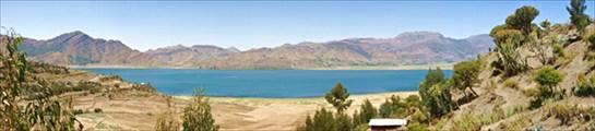 panorama. Ashenge Lake