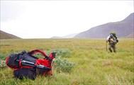 На перевале началась пурга, сильный ветер и снег