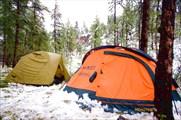 Утро после пурги, наши палатки