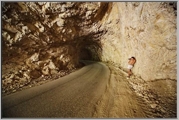 Творческий процесс в туннеле