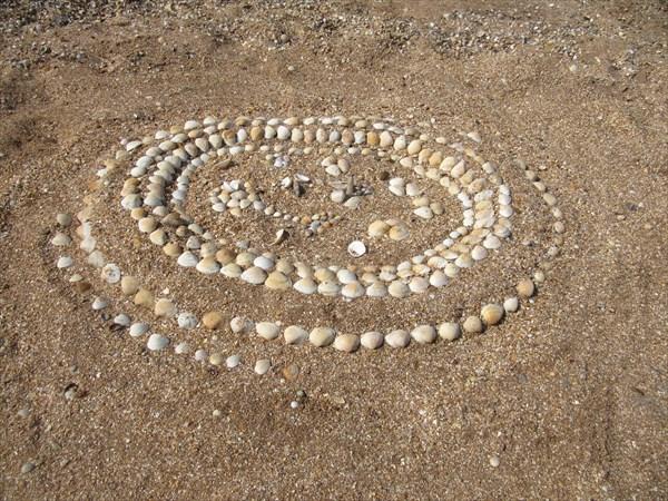 Оставили след на песке