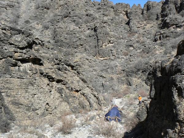 Первая стоянка в каньоне