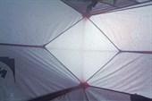 Палатка, вид изнутри. Плато Путорана.