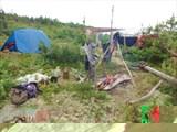 Лагерь в бухте Крестовая.