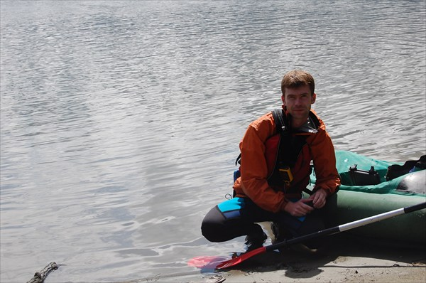 Я перед сплавом по озеру