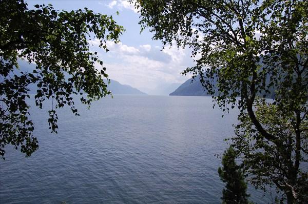 Вид на озеро с мыса Куван