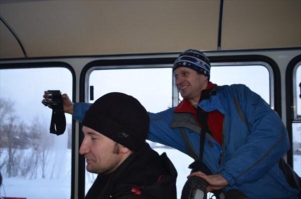 С ЖД вокзала едем на Авто вокзал в Соликамске