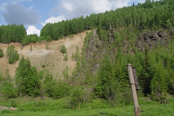 Обрывчик по пути в Шумихинский, около грунтовки