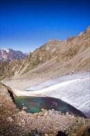 озеро на леднике Тютю-республика Кабардино-Балкария