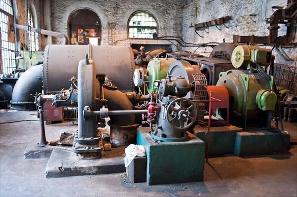 ГЭС в деревне Пороги (машинный зал)