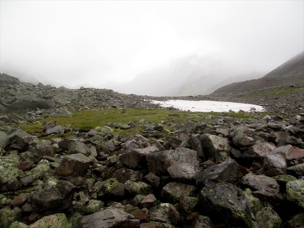 Спуск с перевала Мотайка