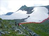 Наш путь на подходе к перевалу