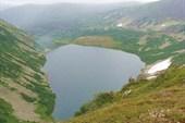 Озеро Хунул-Хузух с перевала Карнизного (Караташского)