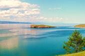 о. Ольхон, пролив Малое море, вид на о. Едор