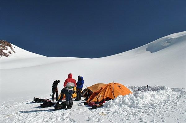 лагерь на плато
