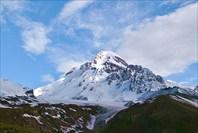 вершина, вид от лагеря под Соберце