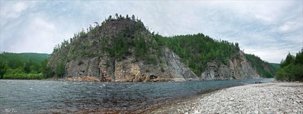 Последние скалы на реке Хани