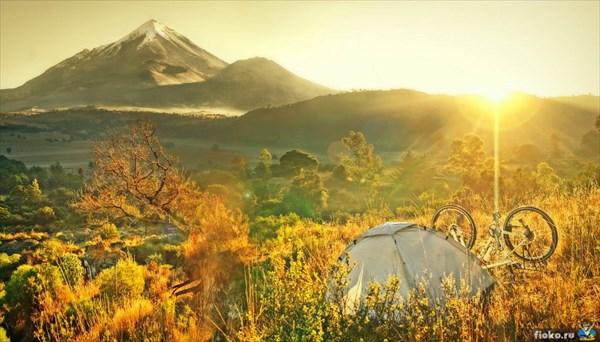 Безумно красивая ночь на высоте 4км у вулкана Орисаба