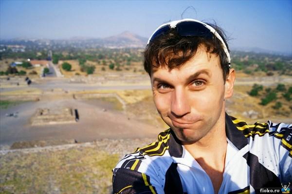 На пирамиде Солнца, Теотиуакан
