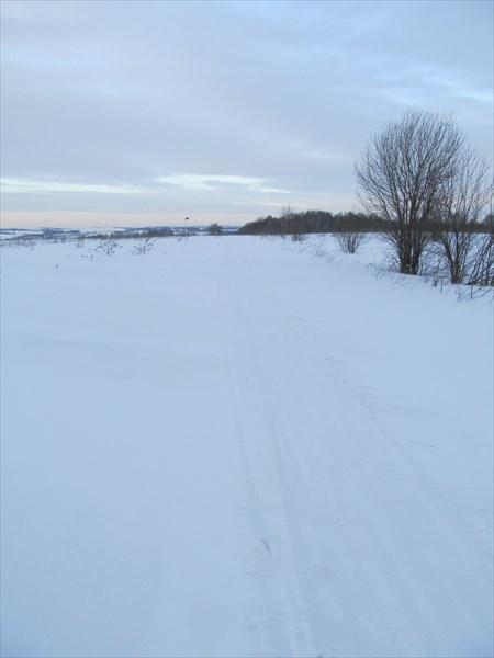 Снегоходная дорога на Салтымаково