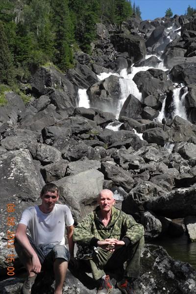 Каскадный водопад Учар.