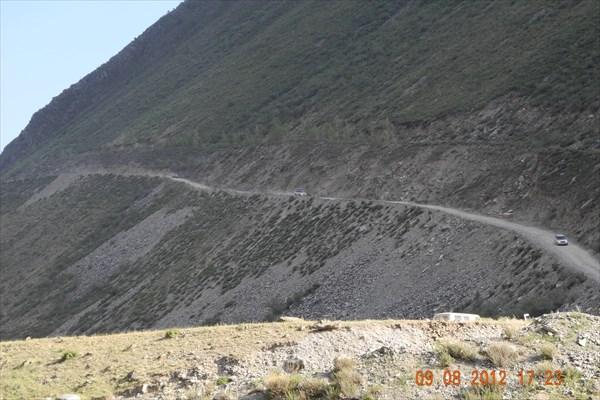 Дорога с перевала Кату-Ярык.