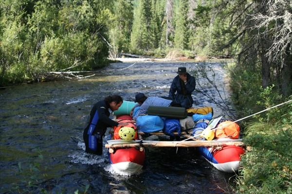 Фото 35. Выход на воду на речке Илогирь