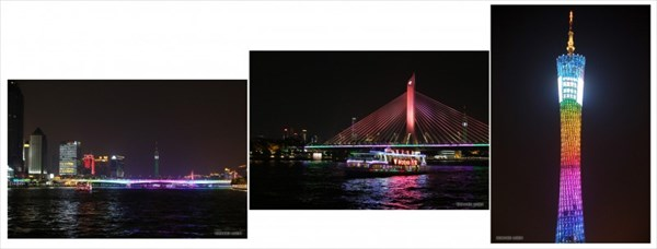 Zhu Jiang, Pearl River или Жемчужная река и Canton Tower