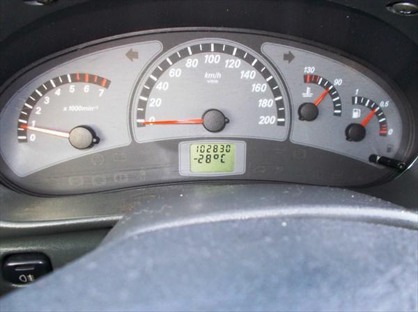 С утра термометр показывал  -28