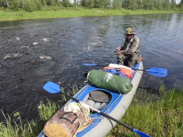 Рыбалка на перекате у Путыръеган