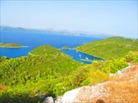 Остров Mljet. Вид на порт Prozura
