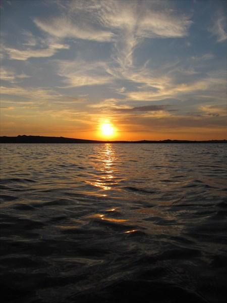 Закат на оз.Колыванском