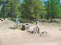 Байкал. о.Ольхон.«сэргэ» - шаманское древо мира, символизирующее