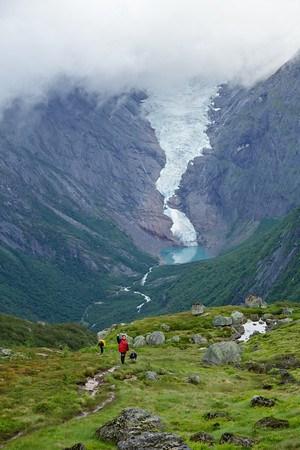Вид на ледник.