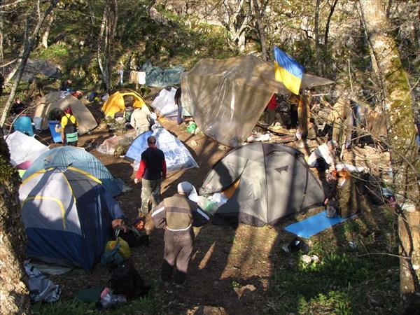 Лагерь. Запорожская стоянка.