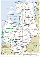 Карта 1. Карта стран Балтии
