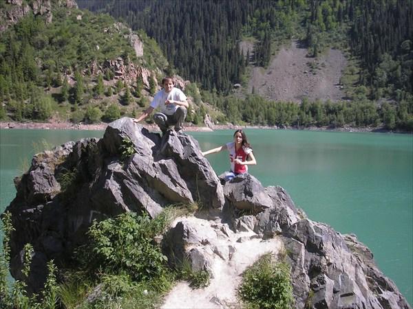 Вид на озеро.